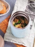 スープジャー使用。菜の花と桜海老の和風パスタ