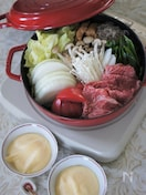 ストウブSukiyaki&グリルパンで関西風トマトすき焼き