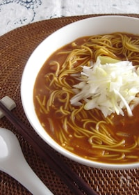 『カレー粉とスパイスで作る♪スパイシー温麺。』