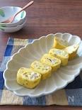 お弁当に嬉しいアレンジ卵♪いかのバジルバター風味の卵焼き
