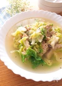 『具材鍋にいれて10分煮るだけ♡手羽元と春キャベツのスープ煮』