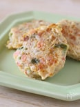 鶏肉と野菜のハンバーグ