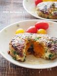 簡単!半熟卵入り鶏バーグ 冷凍卵で。