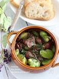 ホタルイカと空豆のオイル煮