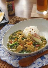 『豚肉と空芯菜のココナッツカレー』