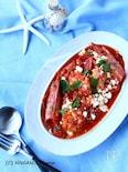 海老のサガナキ (ギリシャ風 海老のトマトチーズ煮)