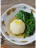 レンジで簡単!かぶと春菊の煮物