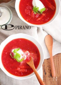 『ビーツとトマトの赤いスープ♪』