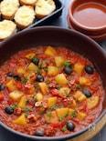 タコとジャガイモのパプリカ煮