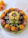 パーティーやお祝いに!取りやすい寿司ケーキ