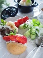 【水切りヨーグルトの作り方】カラフルフルーツのサンドイッチ♡