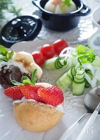 『【水切りヨーグルトの作り方】カラフルフルーツのサンドイッチ♡』