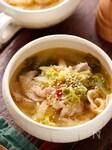 白菜と豚肉のピリ辛ごまみそスープ【#副菜いらず#重ねて放置】
