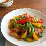 ごはんがすすむ和総菜☆鶏肉とパプリカのカレー炒め