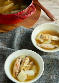 『手羽と焼きネギの生姜スープ』