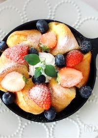 『オーブンにおまかせ<らくウマ>ベーグルdeフレンチトースト♡』