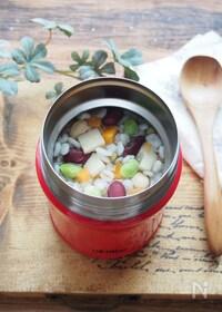 『【スープジャー】たけのこと豆の中華風押し麦リゾット』