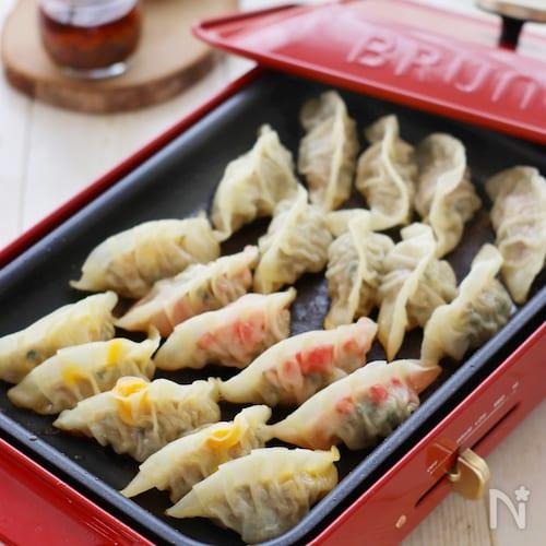 BRUNO食堂☆ホットプレートでランチ餃子5種