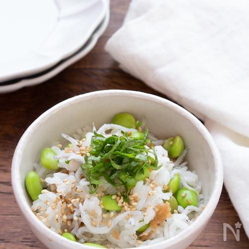 【時短ごはん】枝豆と梅干しのあっさり混ぜごはん