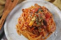 プロのレシピ!アンチョビときのこのトマトソースパスタ