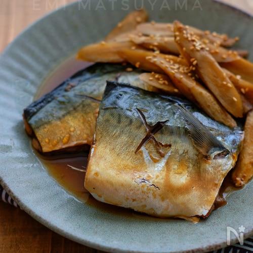 麺つゆで簡単!*サバとごぼうの煮物*