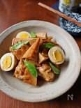 タケノコと鶏手羽のニンニク醬油煮込み