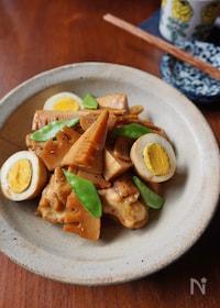 『タケノコと鶏手羽のニンニク醬油煮込み』