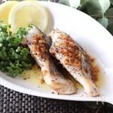 淡泊な魚にニンニクでパンチ♡サワラのガーリックレモンペッパー