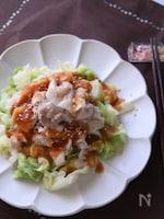 【レンジレシピ】豚バラとキャベツのポン酢かけ