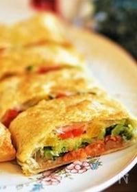 『作業時間10分♪【カラフル野菜とサーモンのパイ包み】』
