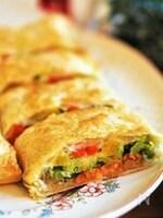 作業時間10分♪【カラフル野菜とサーモンのパイ包み】