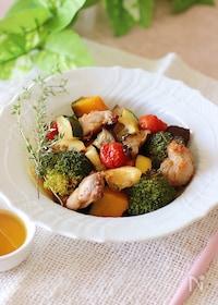 『甘辛ダレが美味しい♪鶏肉と野菜のグリル』