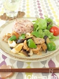 豚肉と茄子のココナッツオイル炒めプレート
