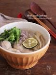 寒い季節にほしくなる♡フォー風*優しい鶏肉の春雨スープ♡