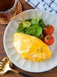 お手軽レシピ♪レンジでチーズオムレツ