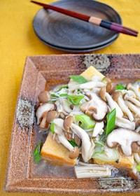 『揚げ豆腐のきのこたっぷりあんかけ』