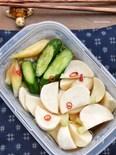 ♡止まらない旨さ♡漬けダレの基本材料は2つ♡野菜の浅漬け♡
