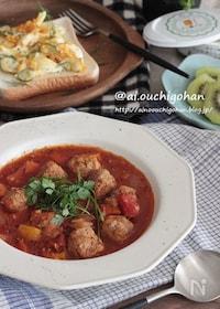『作り置きでらくらく*簡単ミートボールのトマト煮レシピ♡』