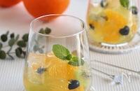 オレンジのサングリアゼリー