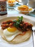 朝食にフエボス ランチェロス