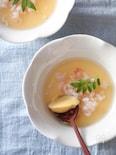 簡単卵豆腐。海老あんかけ。