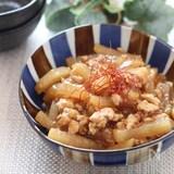 アツアツを炊きたてご飯とどうぞ♡大根と鶏ひき肉のとろみ炒め煮