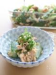 おつまみにするなら日本酒!たたききゅうりとツナの梅肉和え