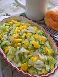 「フレッシュコーンとキャベツのサラダ」大葉の香りで爽やか