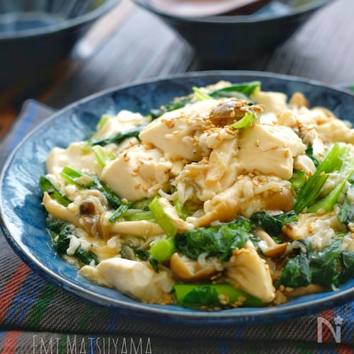 *しらすと小松菜と豆腐のとろみ中華炒め*どんぶりにおススメ!