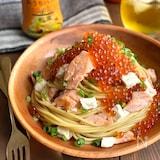 ピエトロおうちパスタで作る☆鮭とクリームチーズの和風パスタ