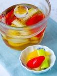 梅酒で漬ける♡パプリカとセロリの梅酒ピクルス