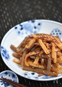 『こんにゃくと竹輪の韓国風ピリ辛炒め』