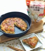 *長芋とオクラチーズの梅風味お焼き*適糖生活