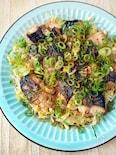 焼きサバと豆もやしのナムル